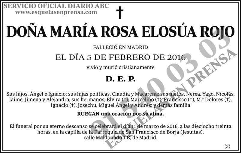 María Rosa Elosúa Rojo